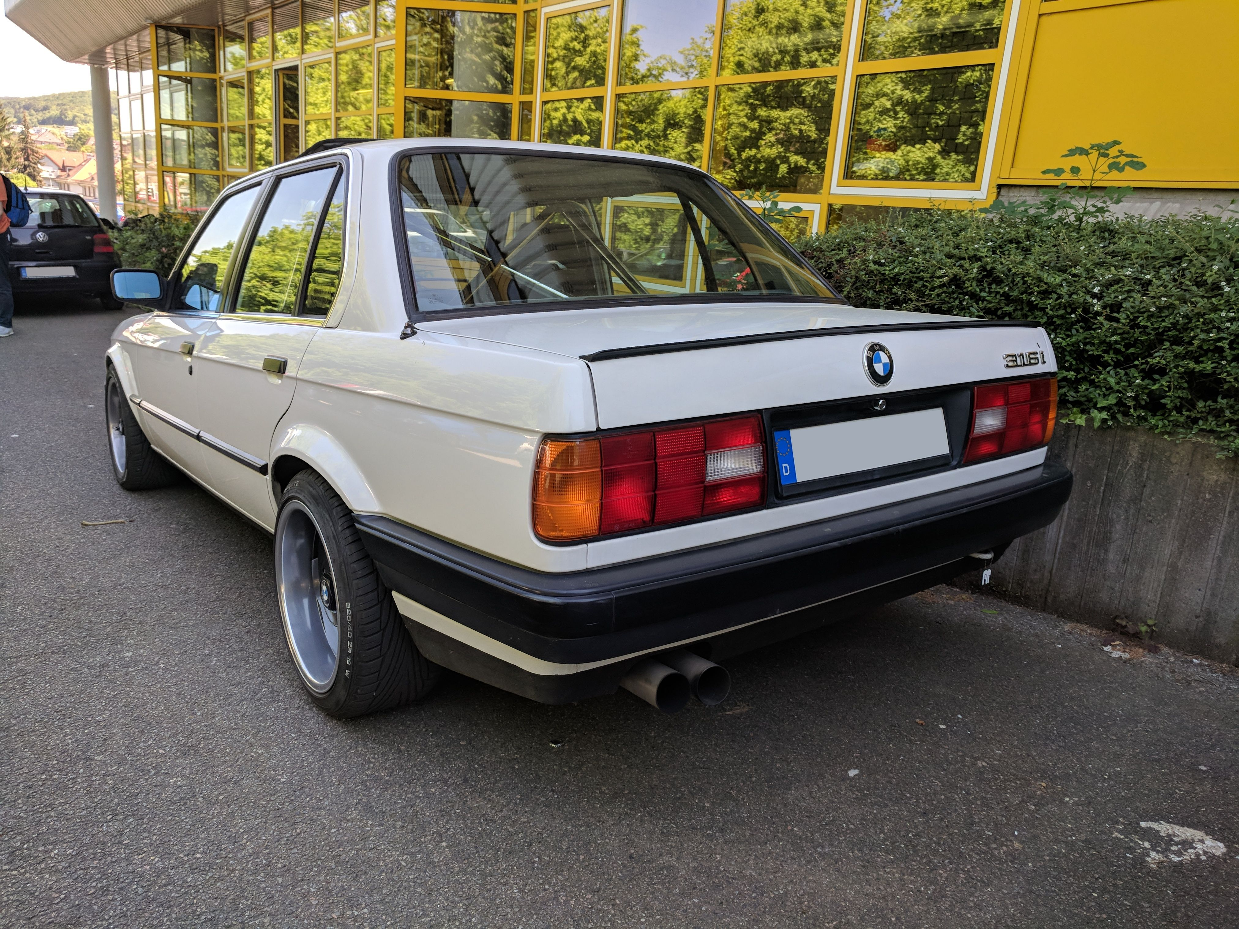 Saw this mint E30 316i with a roll cage at a nearby school