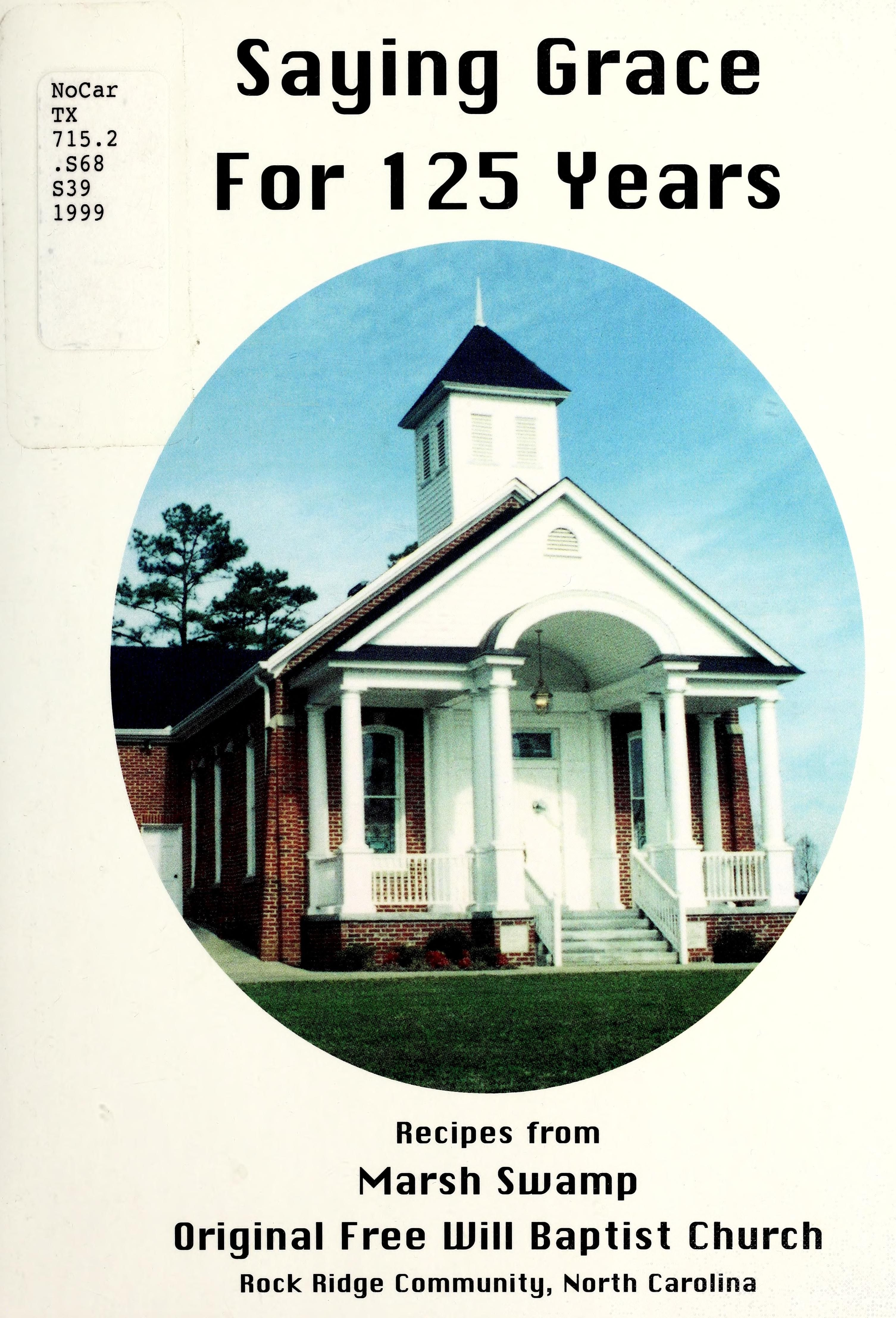 Saying grace for 125 years recipes from Marsh Swamp
