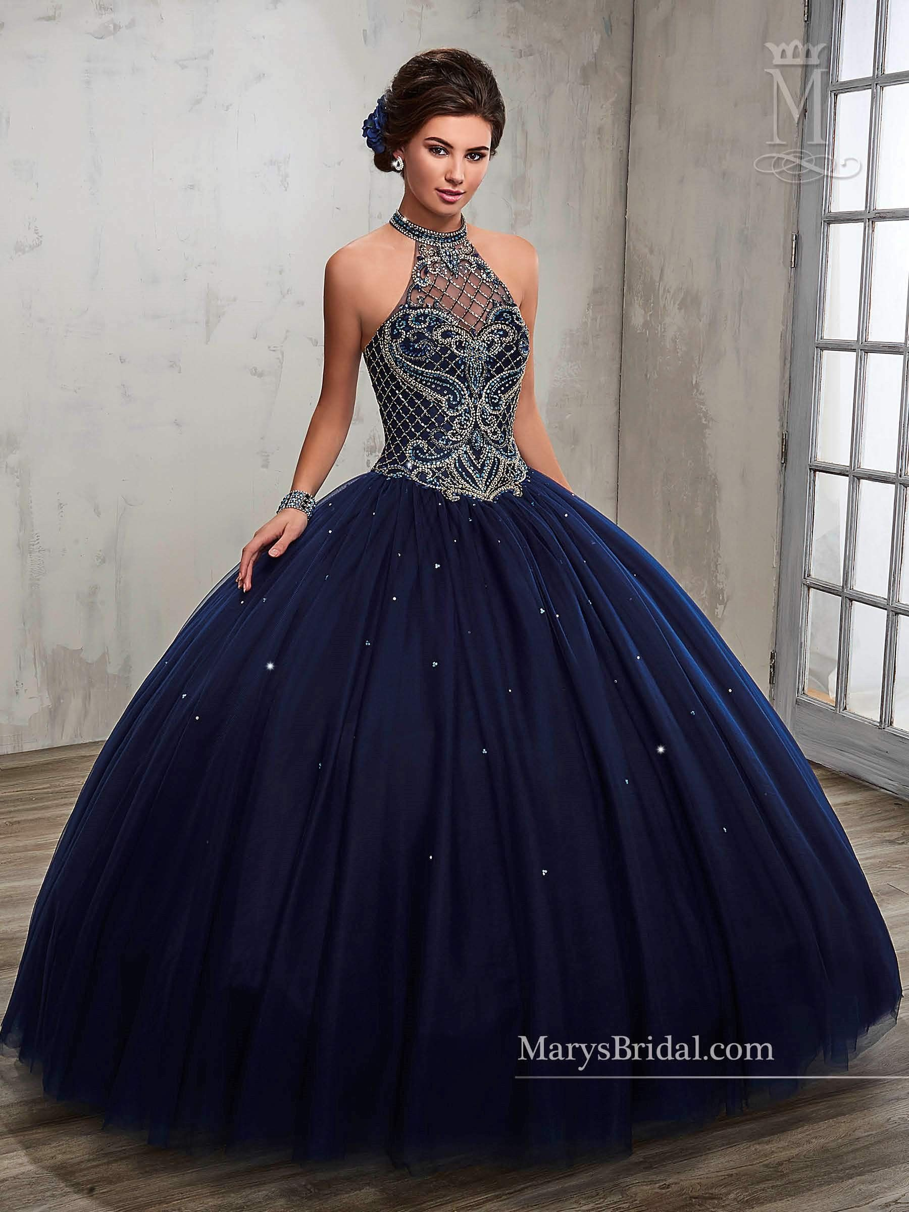 39fe2e3080b Beaded A-line Quinceanera Dress by Mary s Bridal Princess 4Q503 ...