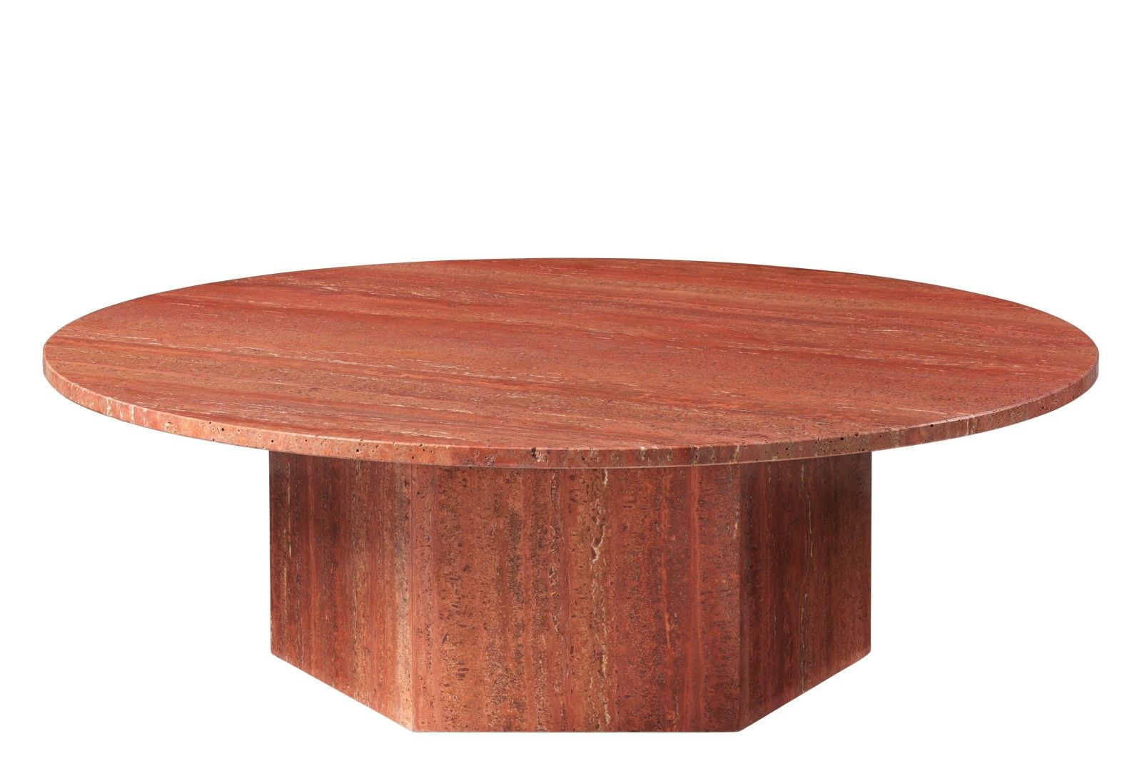 Epic Coffee Table 110 Red Travertine Stone Coffee Table Coffee Table Round Coffee Table [ 1067 x 1600 Pixel ]