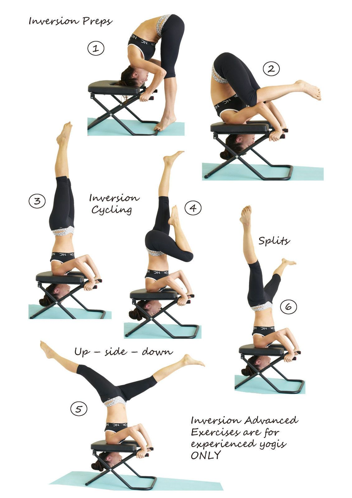 Yoga Headstand Chair Exercises