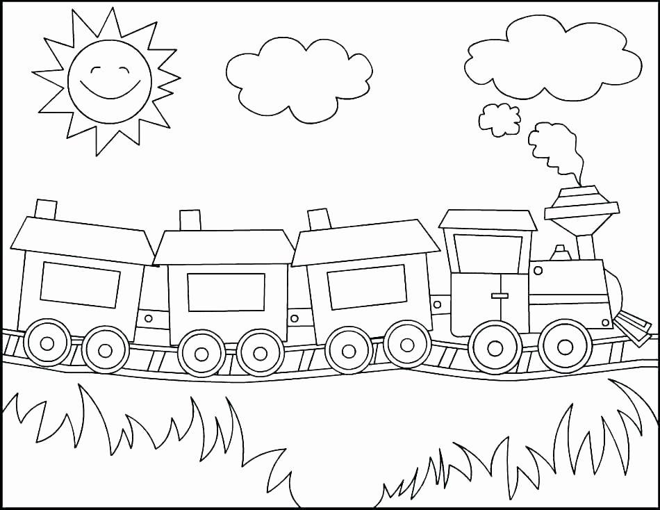 Freight Train Coloring Page | Buku mewarnai, Kartu flash ...