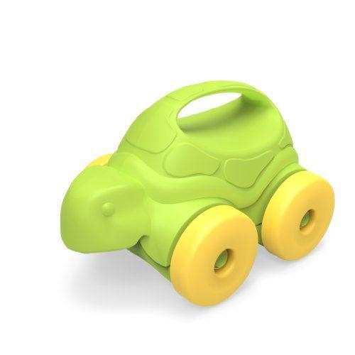 Green Toys Turtle-on-Wheels, Green/Yellow Green Toys http://www.amazon.com/dp/B00IL7IHI6/ref=cm_sw_r_pi_dp_qnmGub1M7ACJC