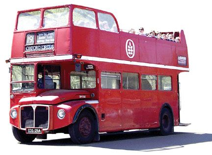 Creative Tonic Loves Double Decker Bus Imported From England To