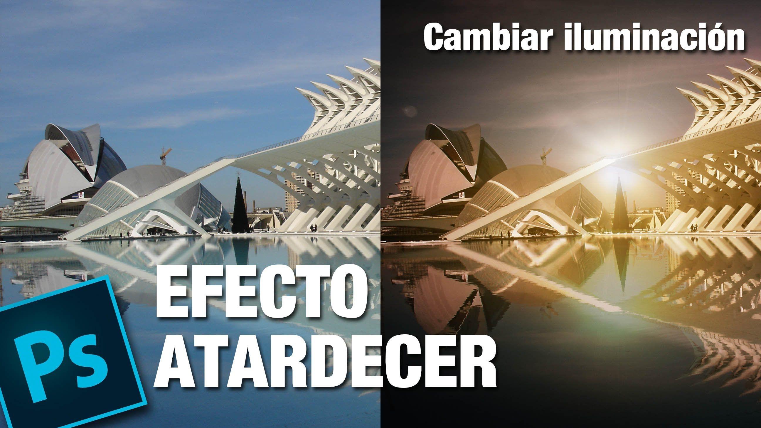 tutorial photoshop efecto iluminacin de atardecer by ildefonso segura