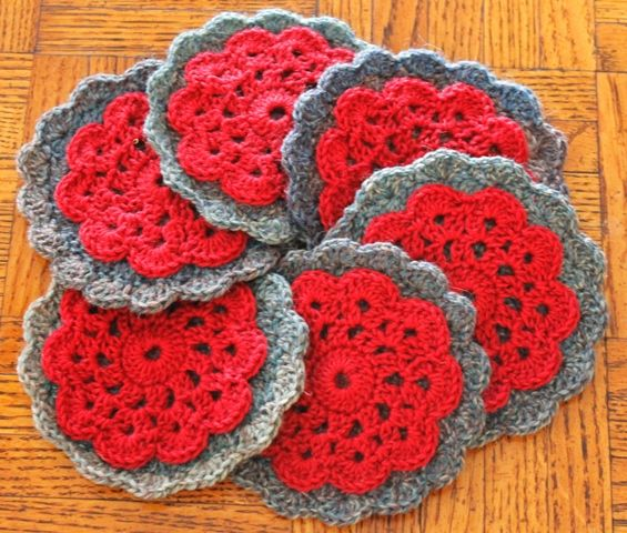 Sewn Circles Coaster Pattern Crochet Coaster Set Free Crochet
