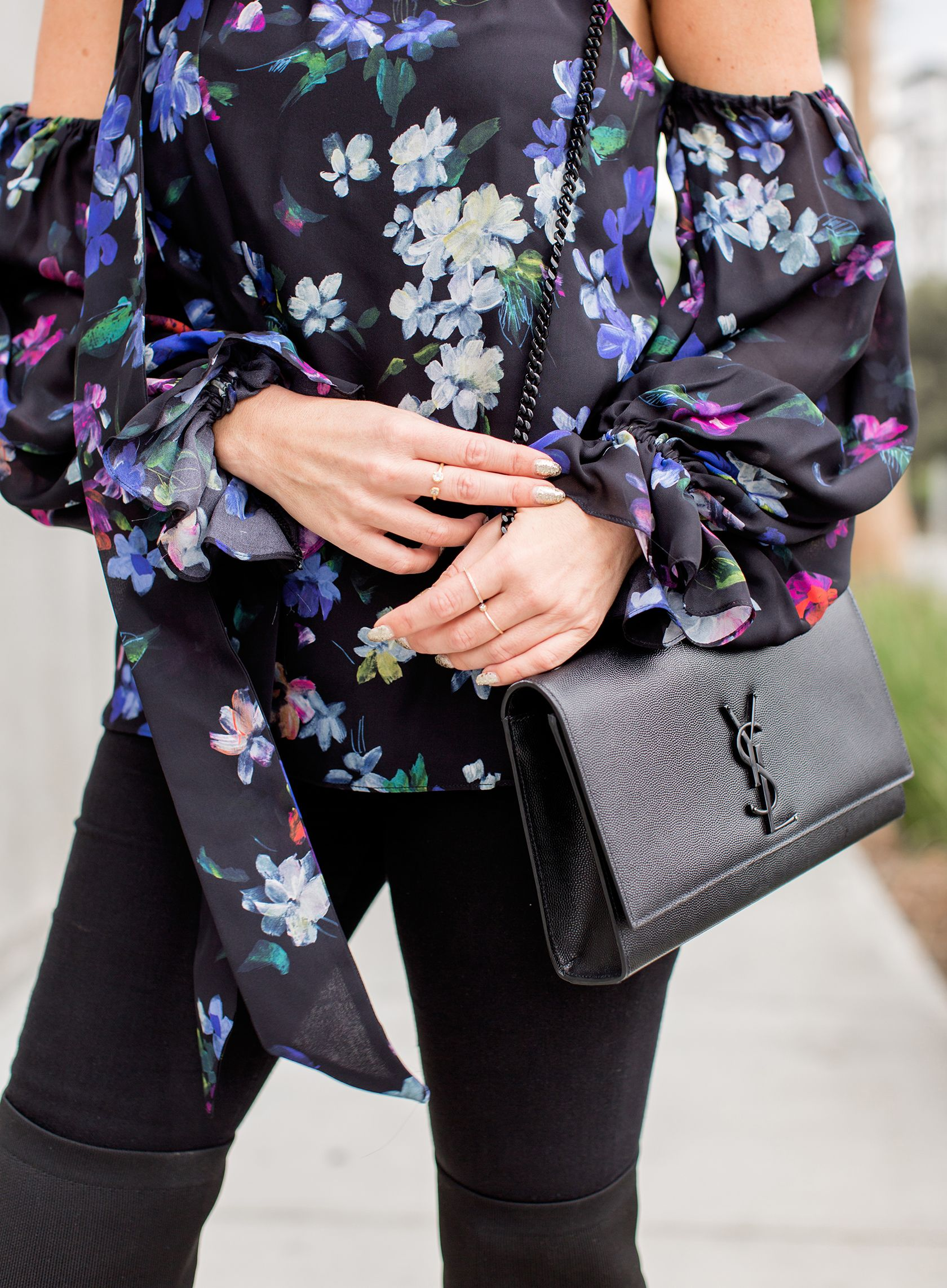 Dark Floral Tops   Fashion 3   Ysl kate bag, Bags, How to wear 6847855a8d