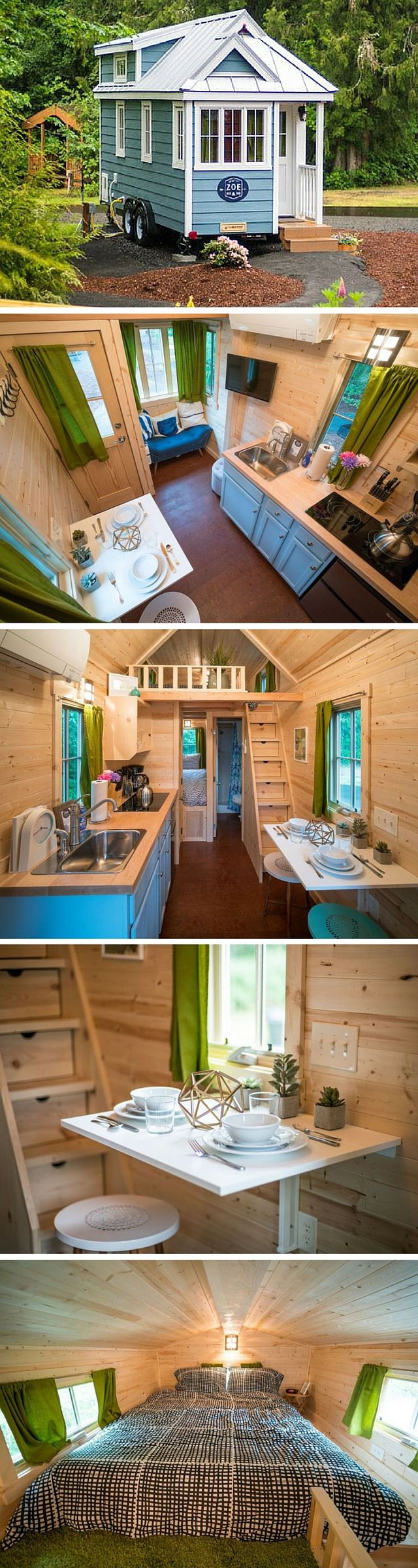 Zoe, one of five tiny houses at the Mt. Hood Village Resort in Oregon