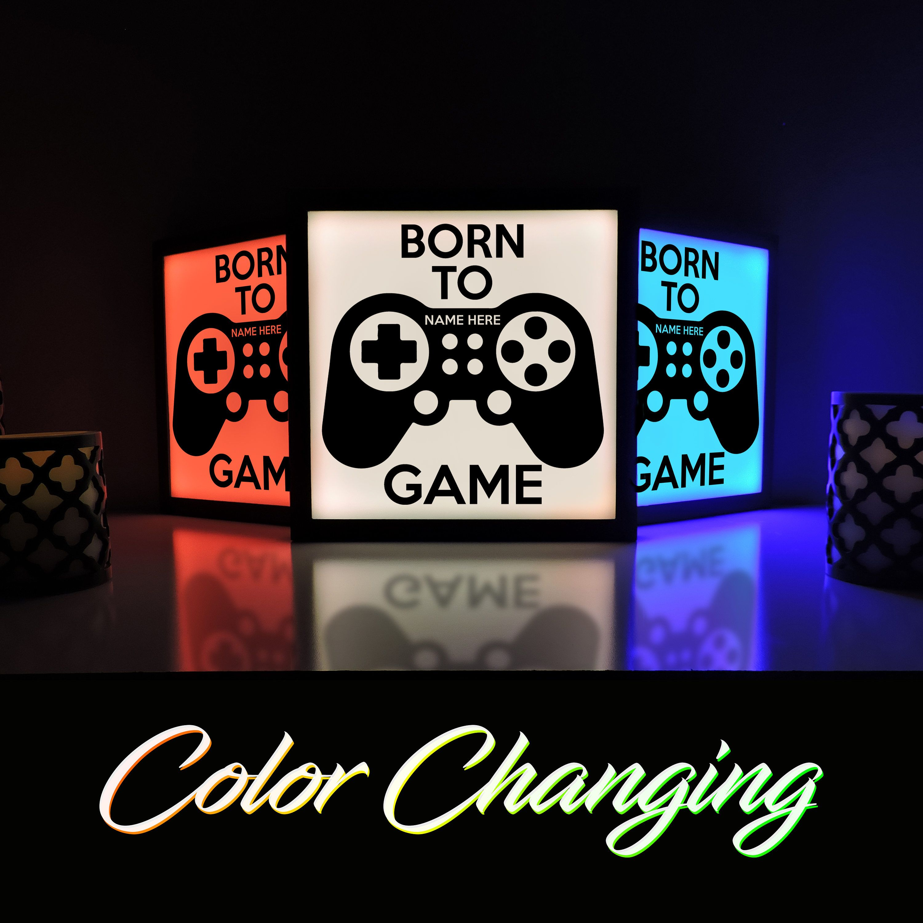 Born To Game Video Game Decor Gaming Light Video Game Sign