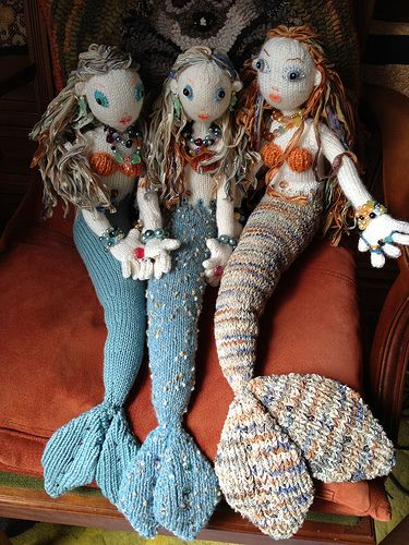 Mermaids on the phone | Dolls | Pinterest | Salzteig