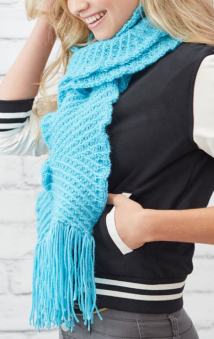 Free Knitting Pattern For Easy Zigzaggy Scarf The