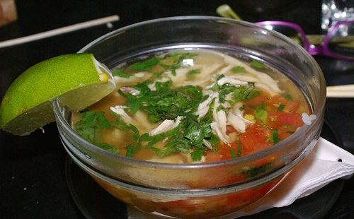 Hcg Mexican Chicken Soup 100g Cooked Chicken 3 4 Cloves Minced