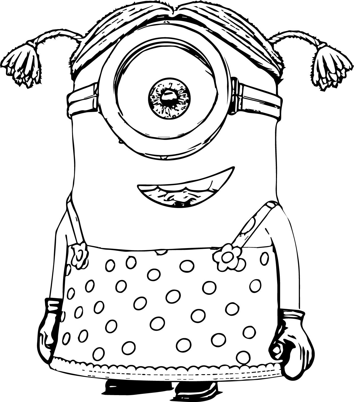 Minions coloring pages peace minion ~ Minions Coloring Pages | wecoloringpage | Minion coloring ...