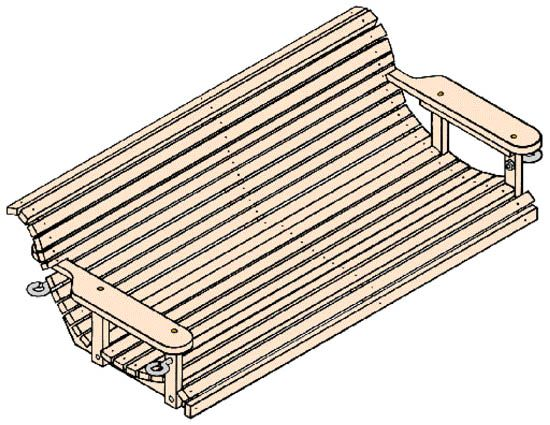 Swing Overall View Bookshelf Woodworking Plans Porch Swing Plans Woodworking Table Plans