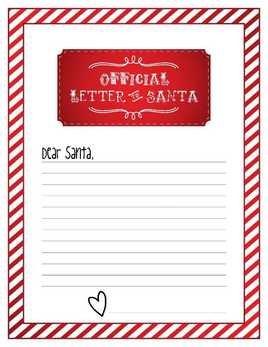 Blank Letters To Santa Letter To Santa Templates Printable