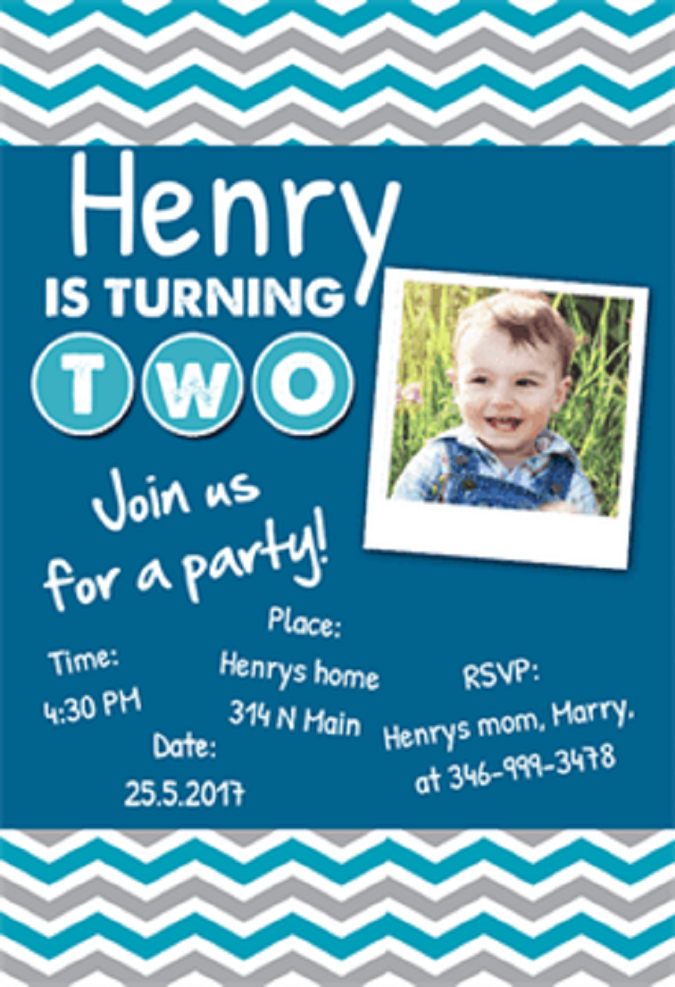 2nd Birthday Invitations Boy Party Invitation Cards