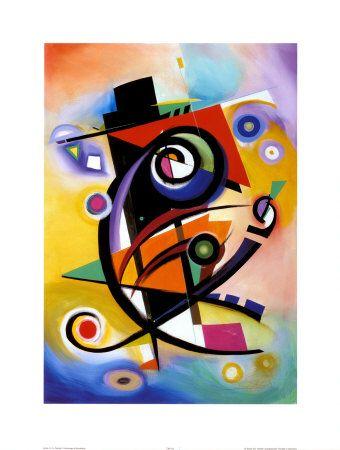 Homage To Kandinsky Prints By Alfred Gockel At Allposters Com Kandinsky Art Art Abstract Painting