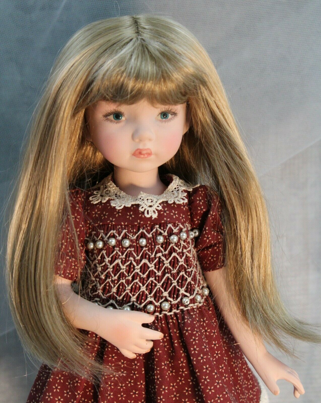 """Brown Doll Wig Size 7//8 for Dianna Effner Little Darling Dolls and Other 13/"""""""