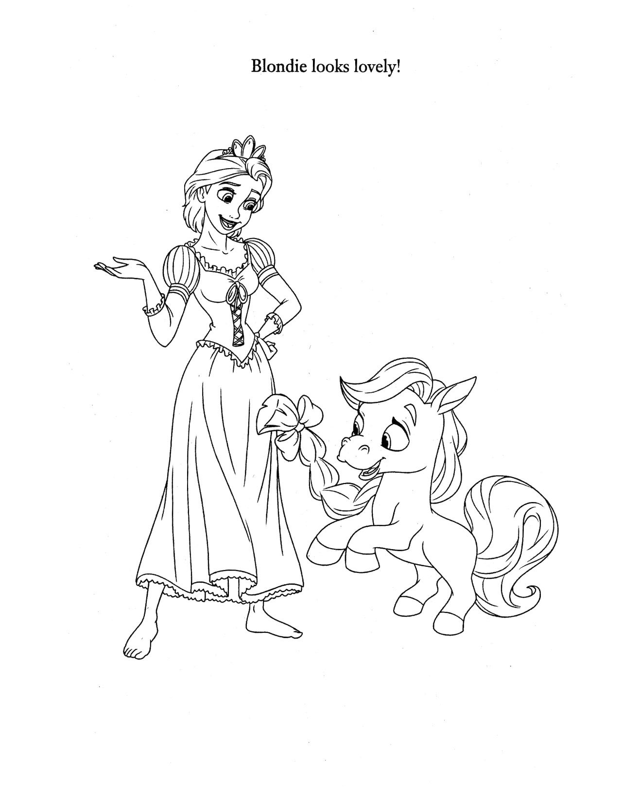 coloriage raiponce  disney coloring pages tangled