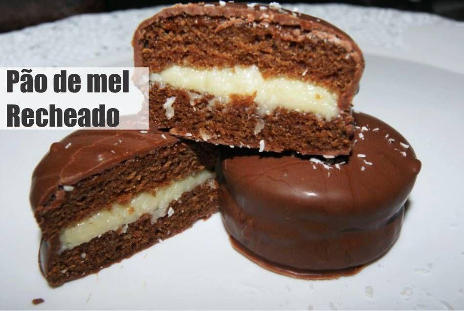Pao De Mel Recheado Receita Receitas De Sobremesas Food Cakes