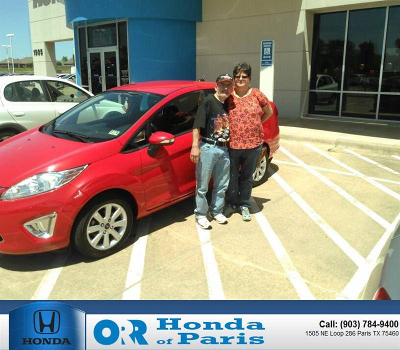 Congratulations To Everett Shelby On Your Purchase From Ronnie Davis At Orr  Honda Of Paris!