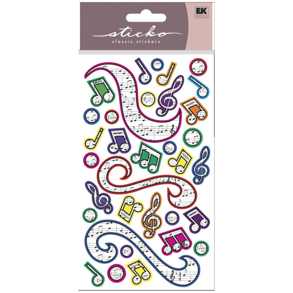 Buy the Sticko® Stickers, Colorful Music at Michaels