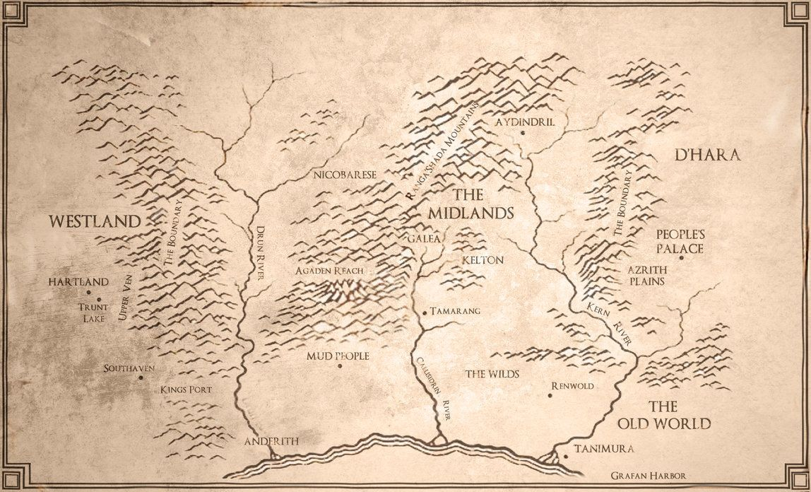 Map of The Sword of Truth Series | Sword of truth, Fantasy ... Sword Of Truth Series Map on