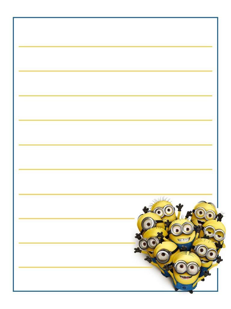 Journal Card - Universal - Minions - lines - 3x4 photo ...
