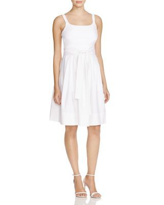 410665c33d4 Calvin Klein Belted A-Line Dress
