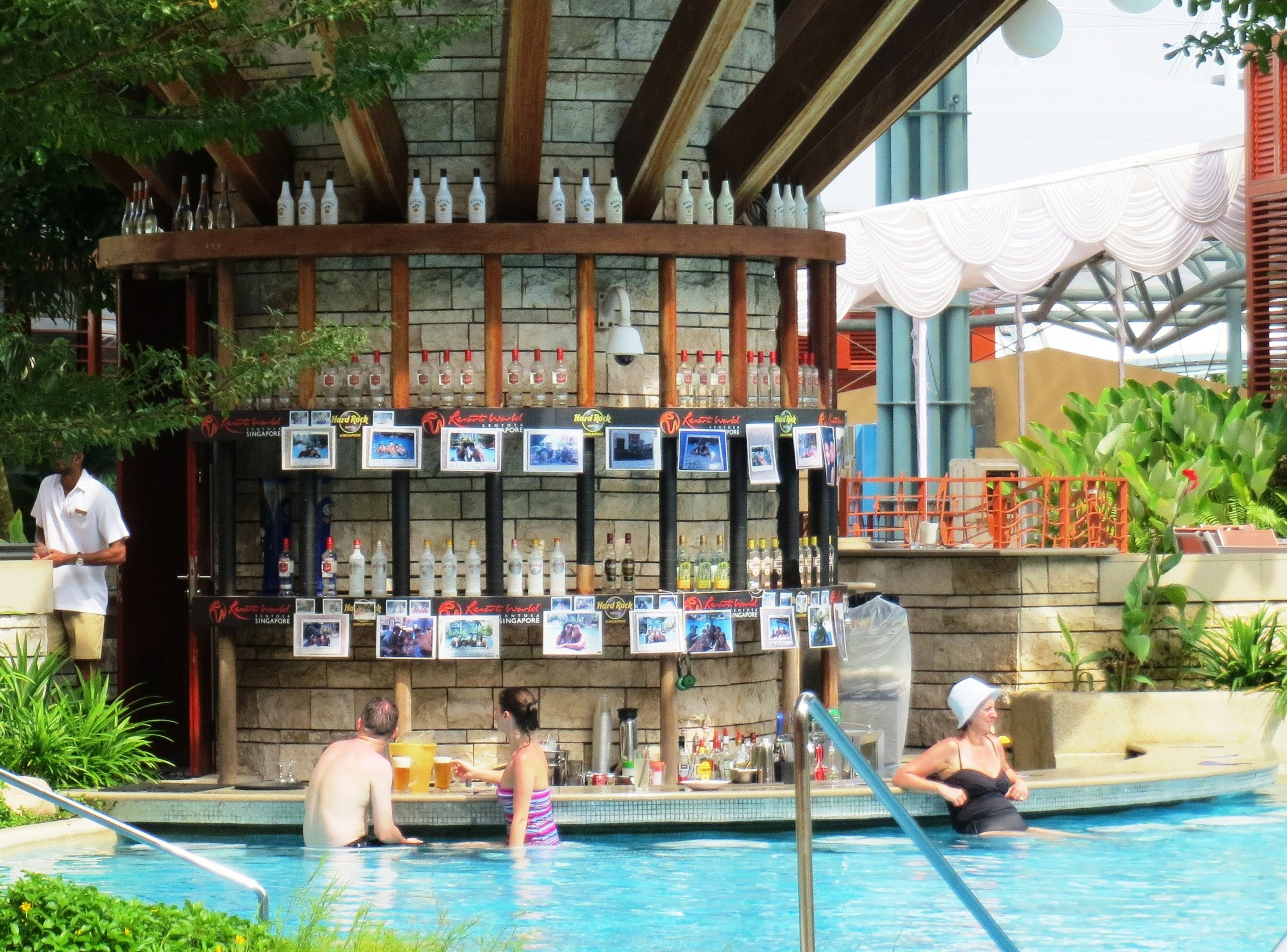 Tired While Swimming No Problem Just Swim Up To The Rock Bar And Have A Drink Only At Hard Rock Hotel Singa Hard Rock Hotel Pool Hard Rock Hotel Swim Up