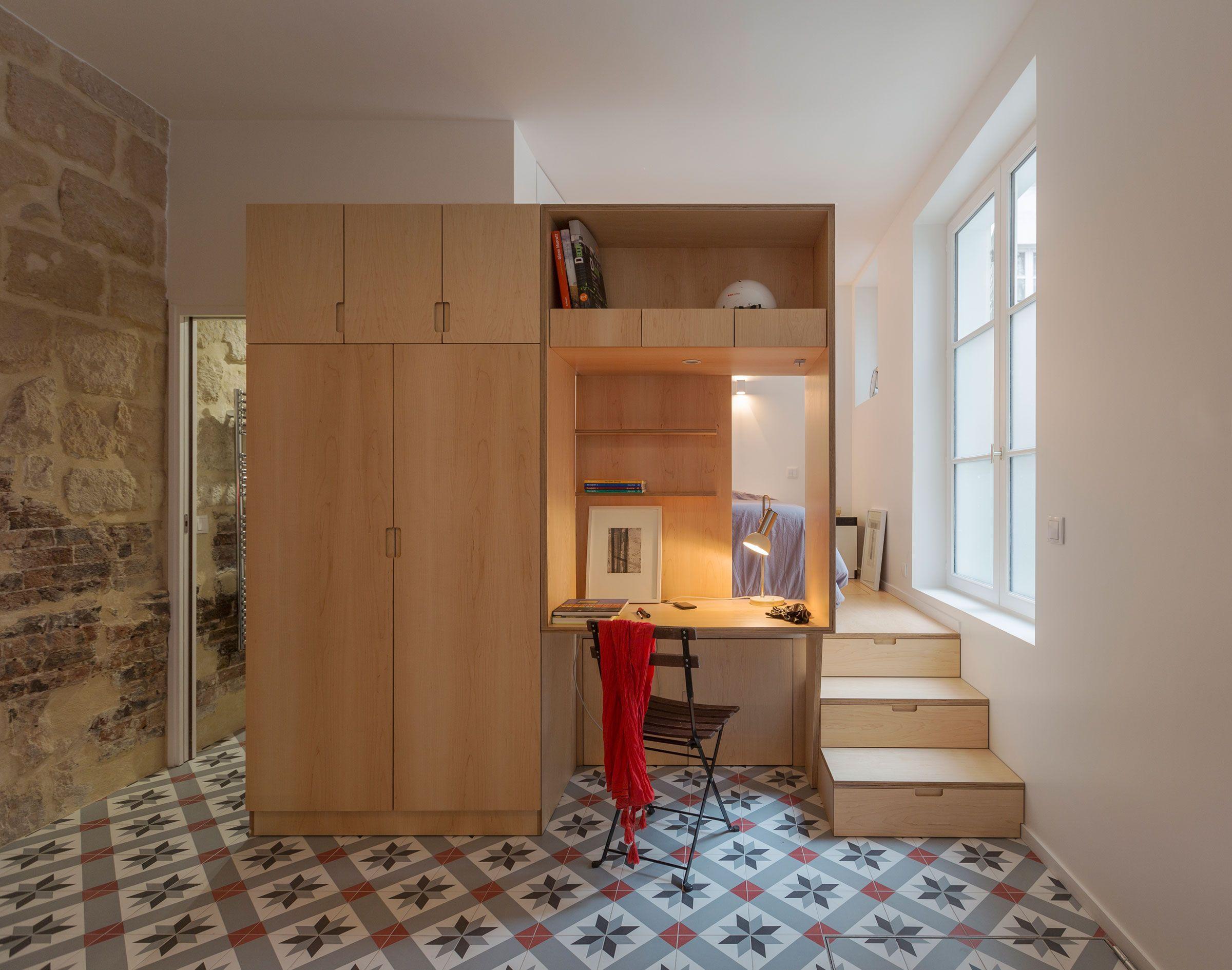 Anne rolland architecte studio li bureau house flat kitchen