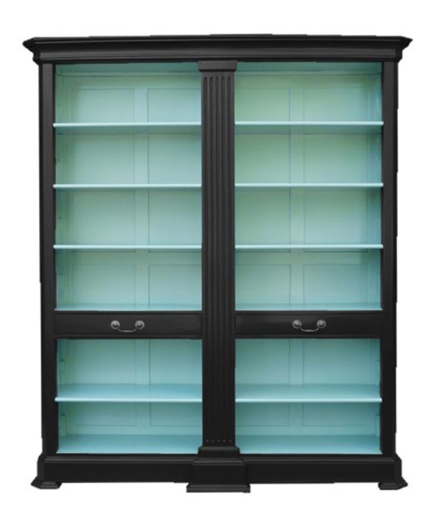 wow do this with an ikea billy bookcase with glass doors. Black Bedroom Furniture Sets. Home Design Ideas