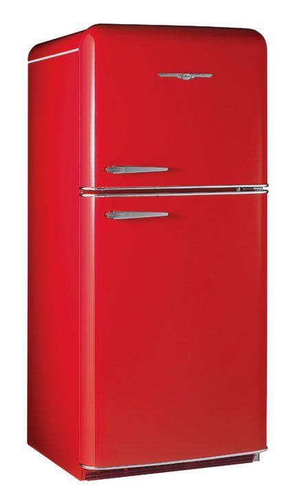 Red Retro And Shiny Red Refrigerator Retro Fridge Red Fridge