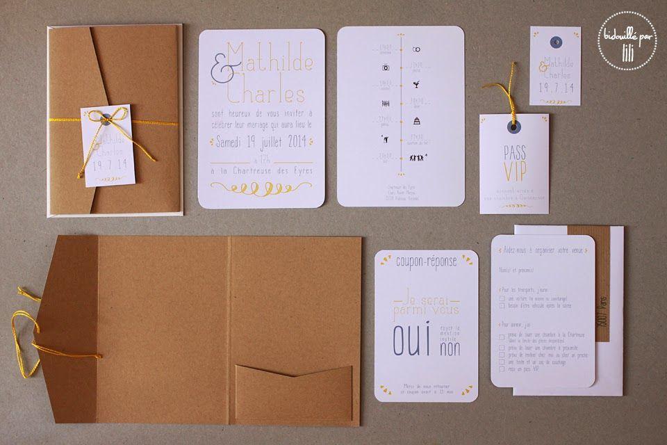 bidouill par lili du c t de l 39 atelier leur joli jour 7 faire part kraft citron faire. Black Bedroom Furniture Sets. Home Design Ideas