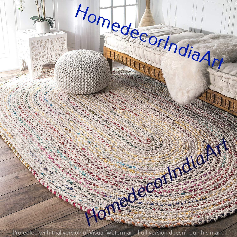 Braided Carpet Rug Braided Rag Rug Meditation Mat Mandala Etsy In 2020 Braided Rag Rugs Rugs On Carpet Colorful Area Rug