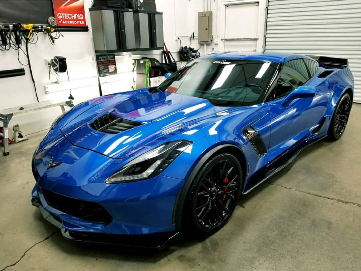 Chevrolet Corvette C7 Z06 Painted In Latina Blue Photo Taken By