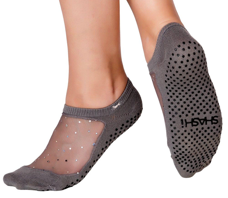 Fitness Home Workout Yoga Socks for Women Non Slip Socks with Grips for Barefoot Exercise