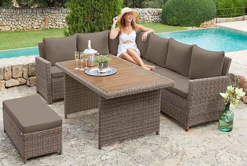 Merxx Loungeset Rimella Ecklounge Fur 6 Personen Geeignet Online Kaufen Otto Polyrattan Gartenmobel Set Polyrattan Lounge Mobel