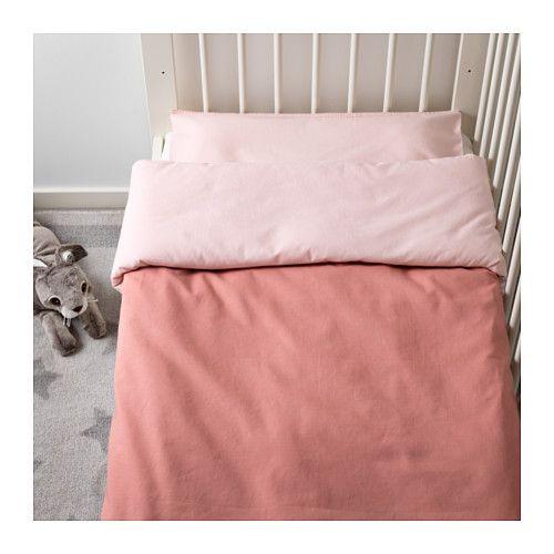 Tillgiven Crib Duvet Cover Pillowcase Pink Pink 43x49 14x22