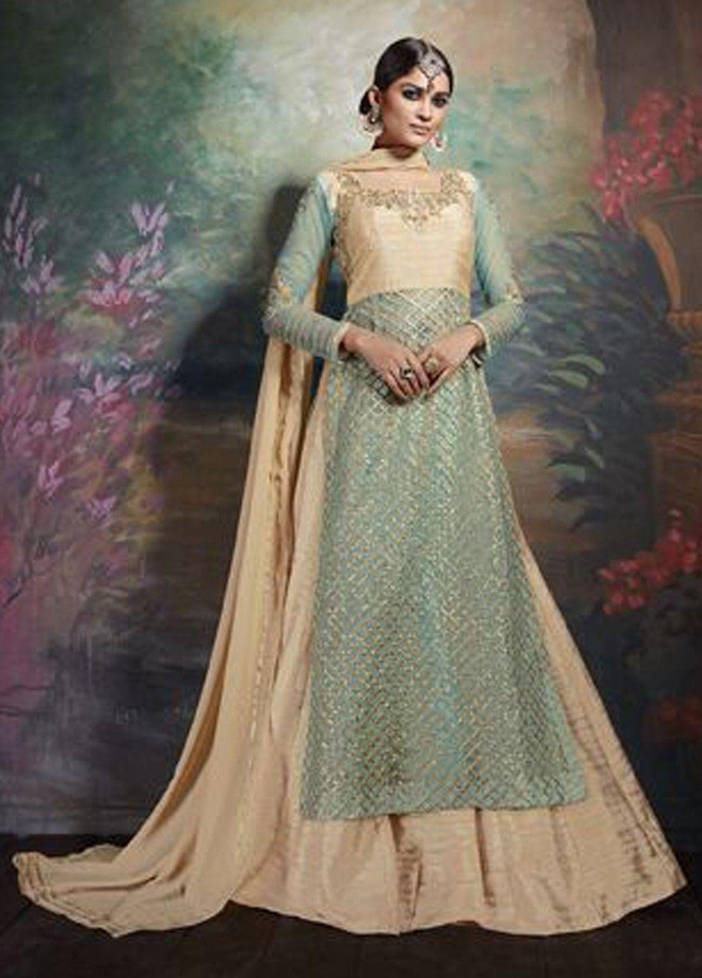 Majestic Art #Silk #Partywear #LehengaSuit