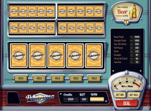 Macchina mangiasoldi in linea Pokerama giocare per soldi. Macchina mangiasoldi in linea Pokerama diverso dalle slot machine tradizionali. Non c'è bisogno di ruotare i tamburi e attendere combinazioni realizzate sulle linee. Come suggerisce il nome, questo dispositivo si basa sulle regole del poker. Ma, a differenza dell'originale, in cui i giocatori non
