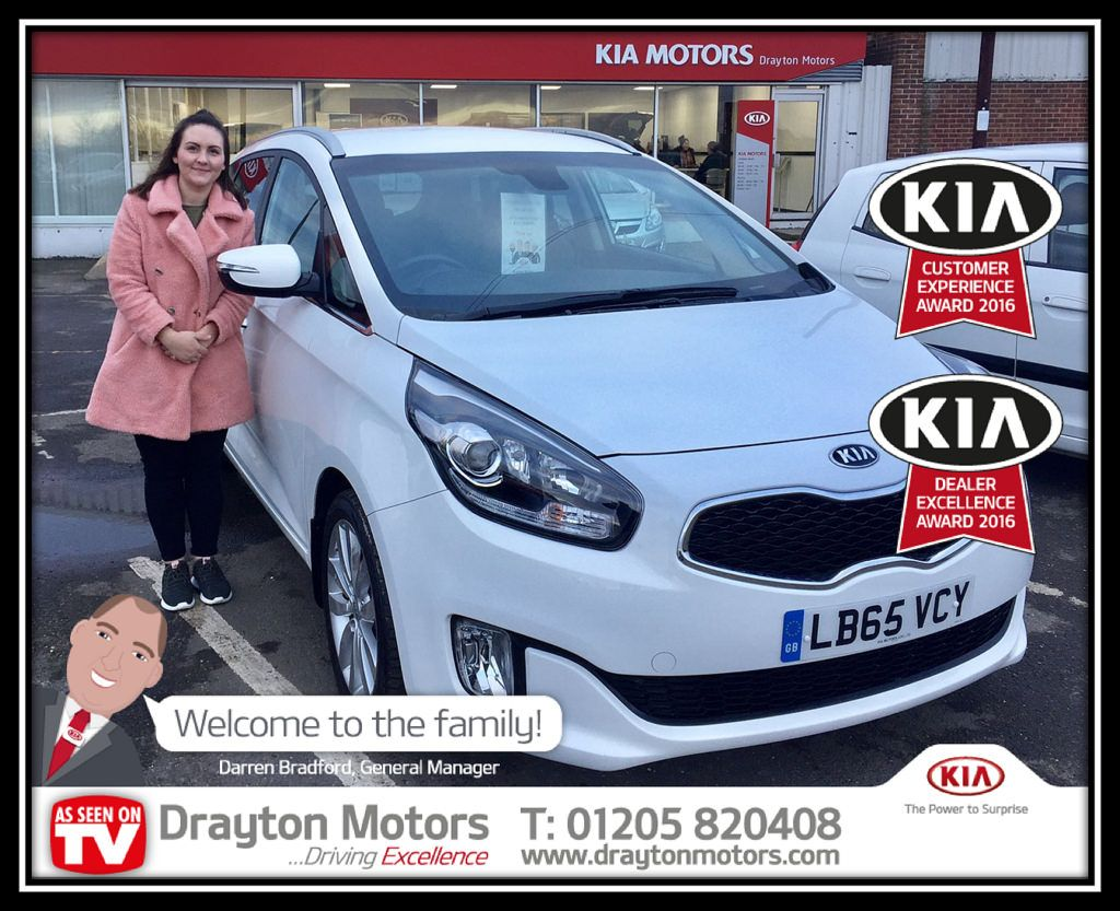 Lucy From Bedford Collecting Her Kia Carens From Richard Kia
