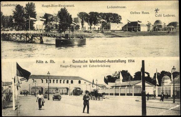 Deutsche Werkbund Ausstellung 1914 Ausstellung Postkarten Poster