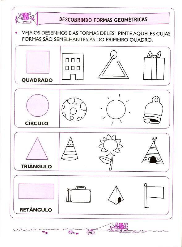 matemática - 5 e 6 anos (21) | SÓLIDOS | Pinterest