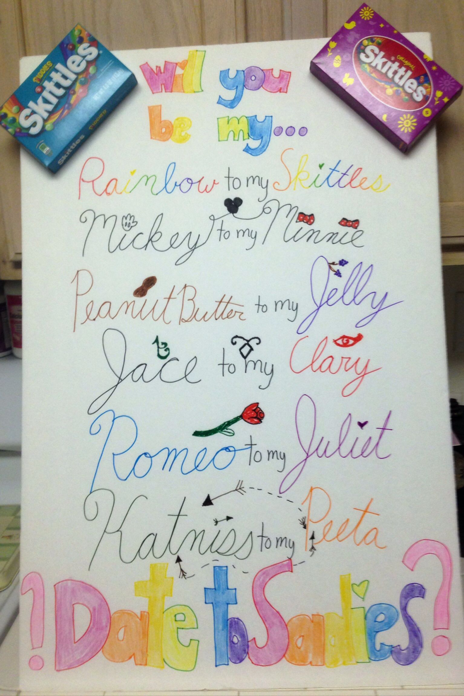 Cute ideas to ask a boy to sadie hawkins - I Made This Poster To Ask My Boyfriend To Sadie S He Thought That