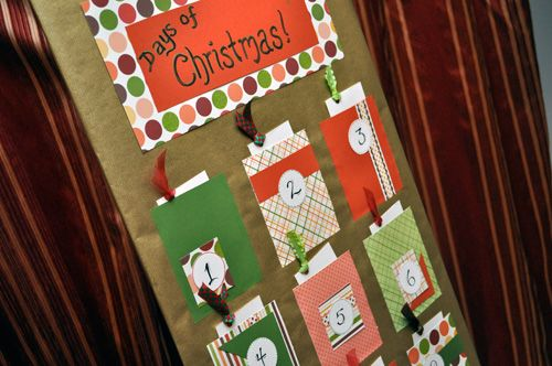How to Make a Paper Advent Calender Christmas Pinterest Advent