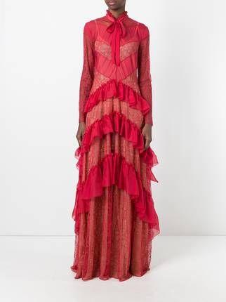 Zuhair Murad Spitzenkleid Mit Rüschen | Zuhair murad, Clothes and Woman