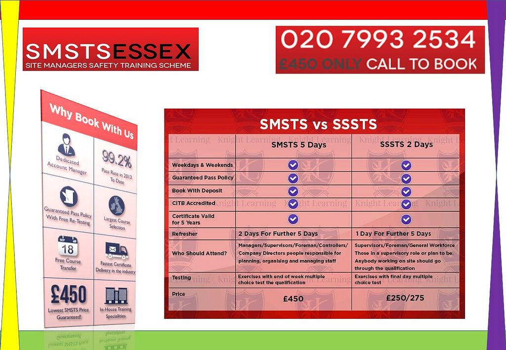 SMSTS Course Training Colchester