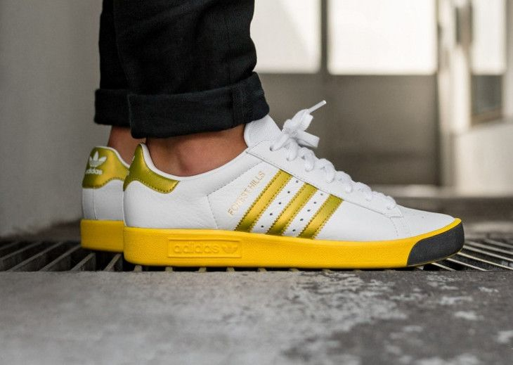 new product 69912 adc31 basket-adidas-forest-hills-white-gold-metallic-eqt-