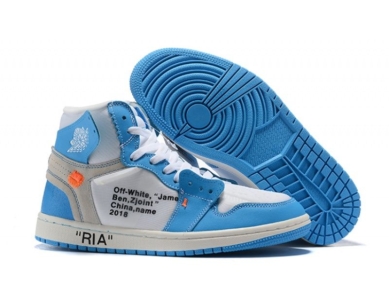 Off-white X Air Jordan 1 ria White/university Blue For #airjordan1outfitwomen
